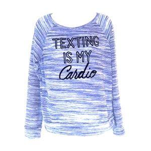 🎀 DELIA'S lightweight sweater velvet letters M